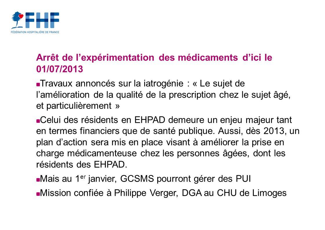 Arrêt de l'expérimentation des médicaments d'ici le 01/07/2013