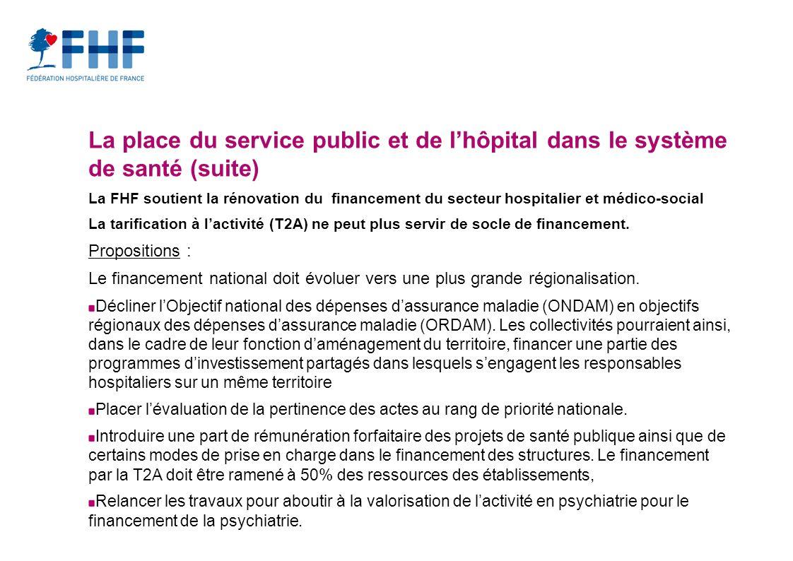 La place du service public et de l'hôpital dans le système de santé (suite)