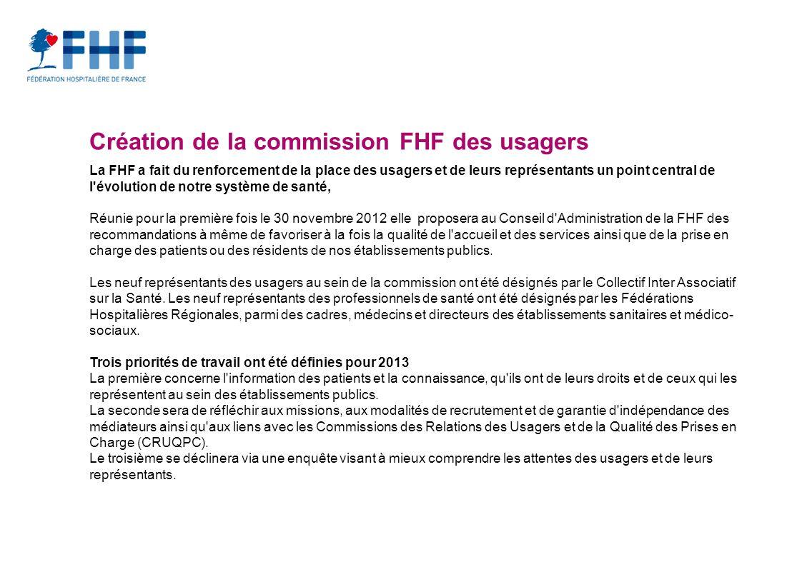 Création de la commission FHF des usagers