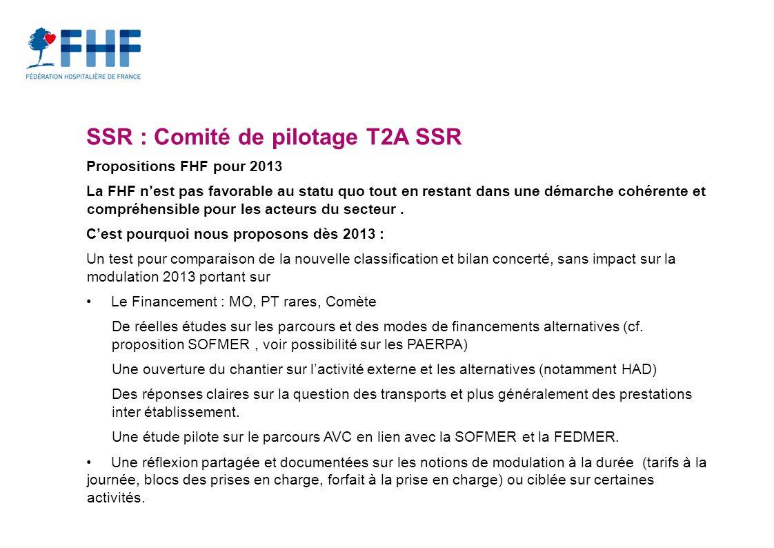 SSR : Comité de pilotage T2A SSR