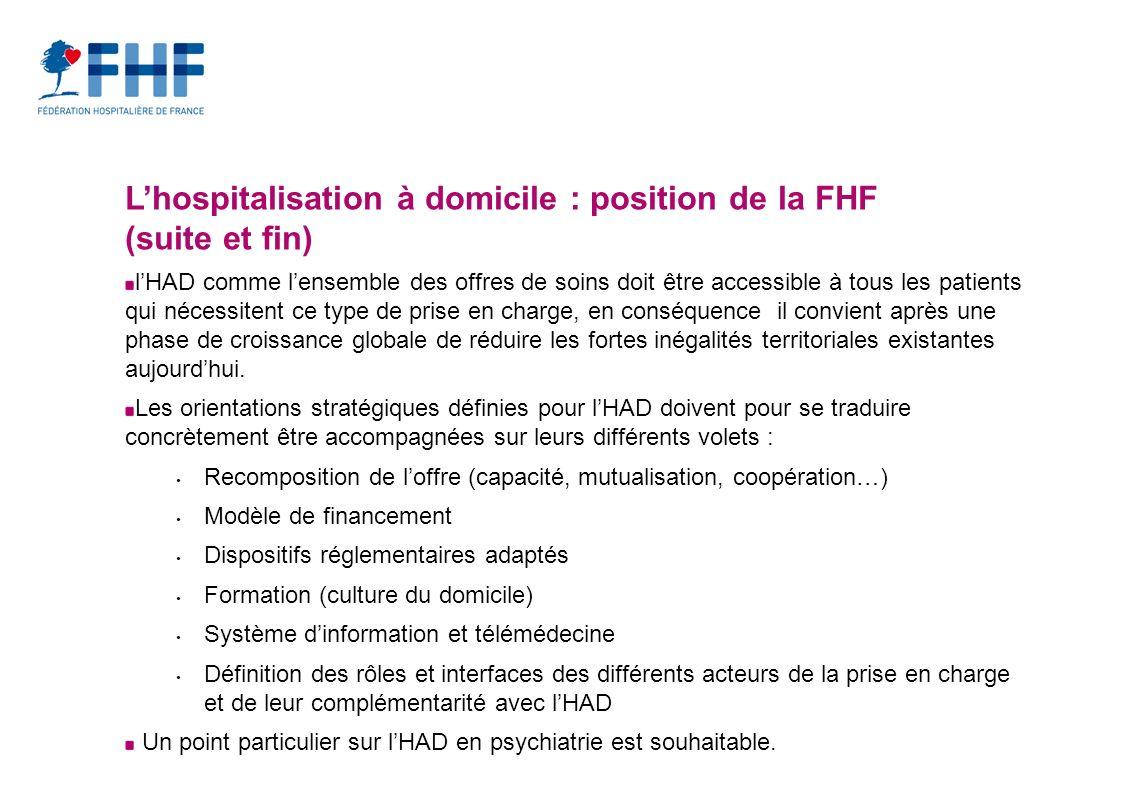 L'hospitalisation à domicile : position de la FHF (suite et fin)
