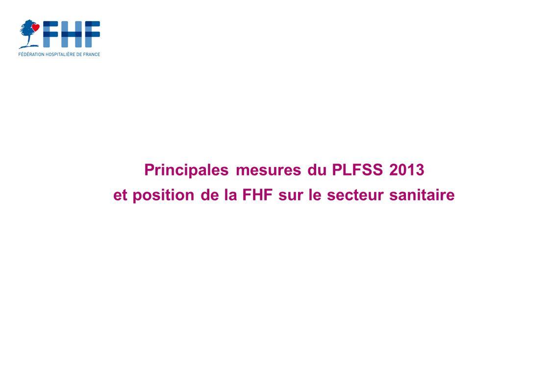 Principales mesures du PLFSS 2013