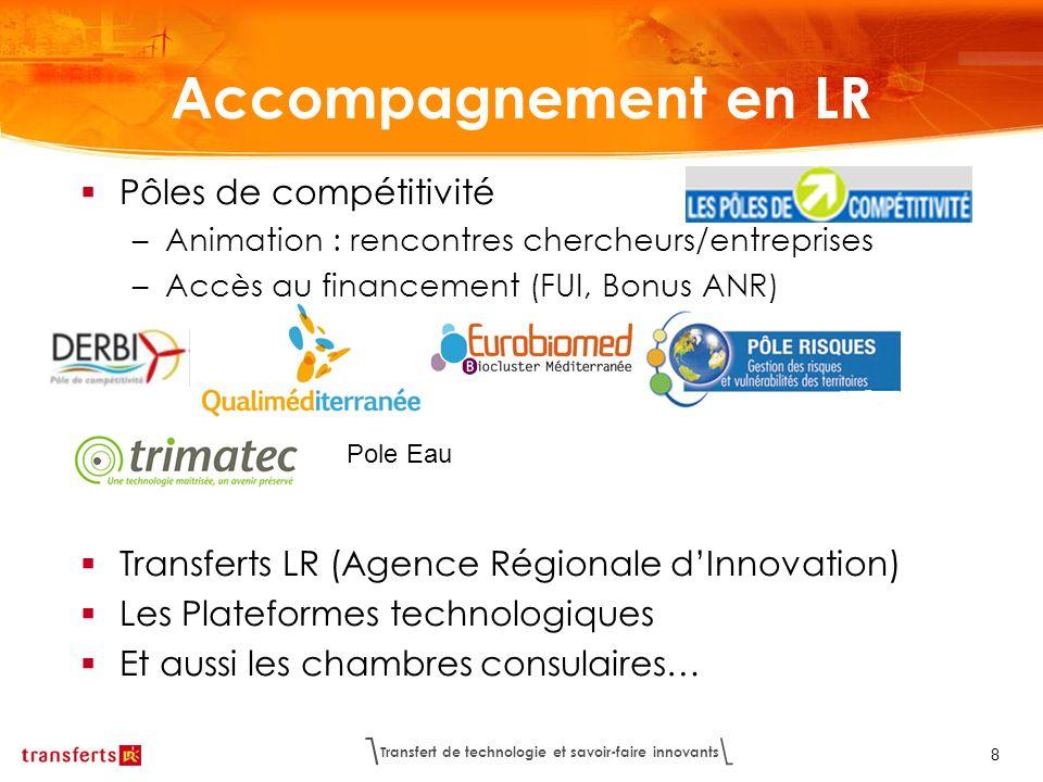 Accompagnement en LR Pôles de compétitivité