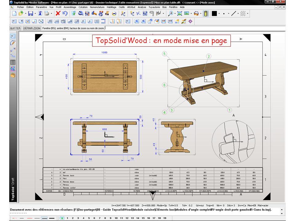 TopSolid'Wood : en mode mise en page