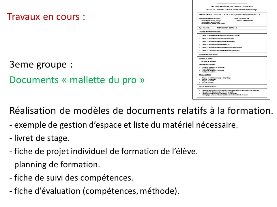 Documents « mallette du pro »
