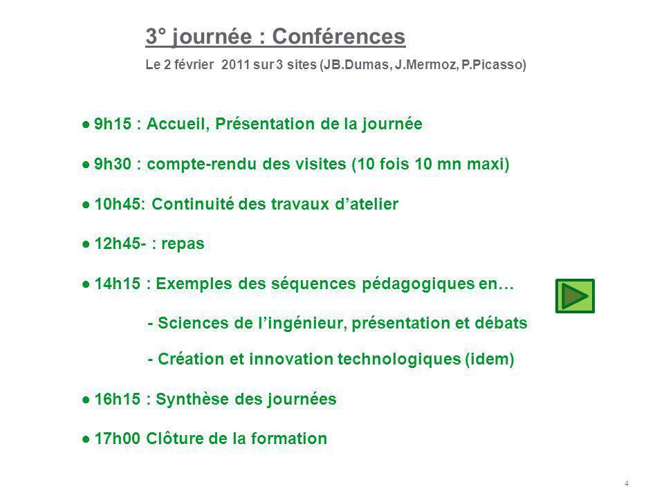 3° journée : Conférences