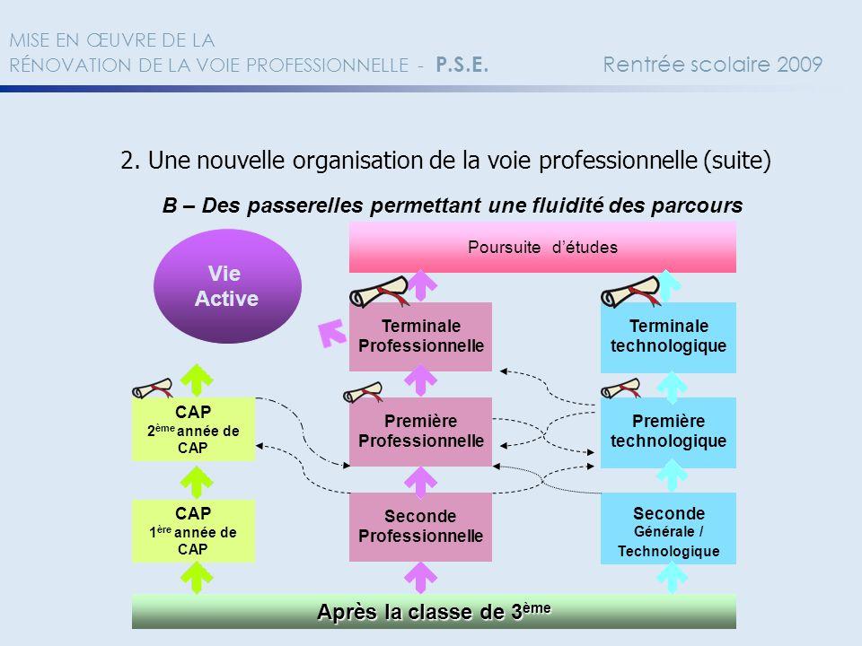 2. Une nouvelle organisation de la voie professionnelle (suite)