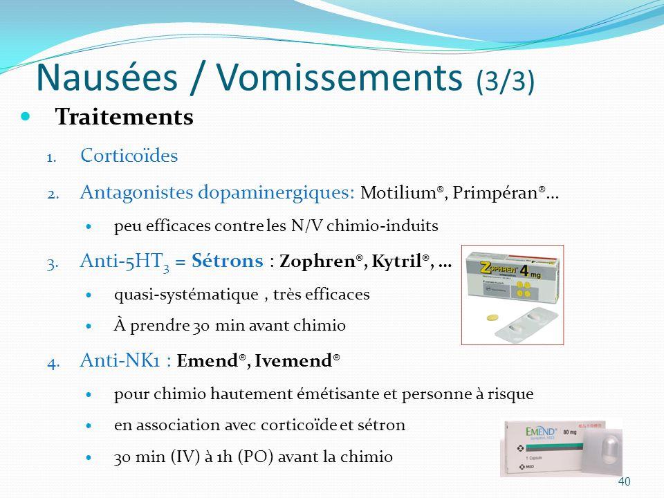Nausées / Vomissements (3/3)