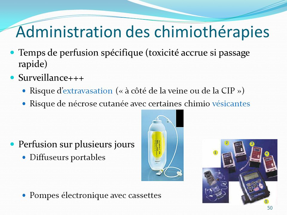 Administration des chimiothérapies