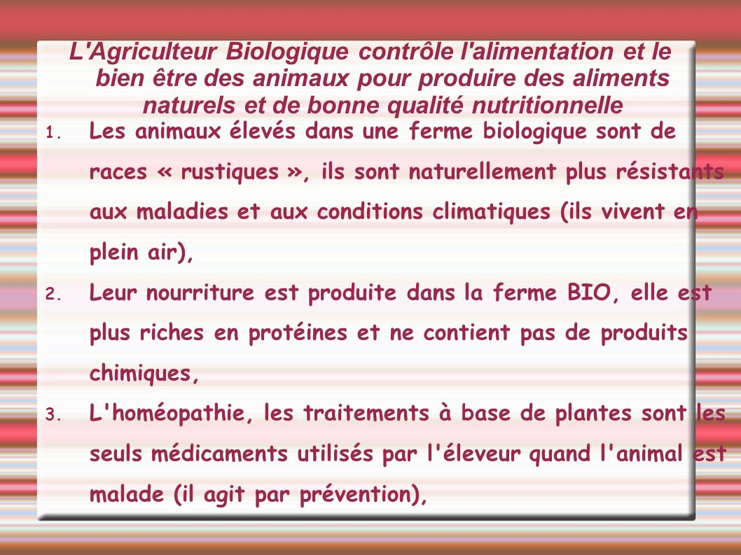 les int r ts de l 39 agriculture biologique ppt t l charger. Black Bedroom Furniture Sets. Home Design Ideas
