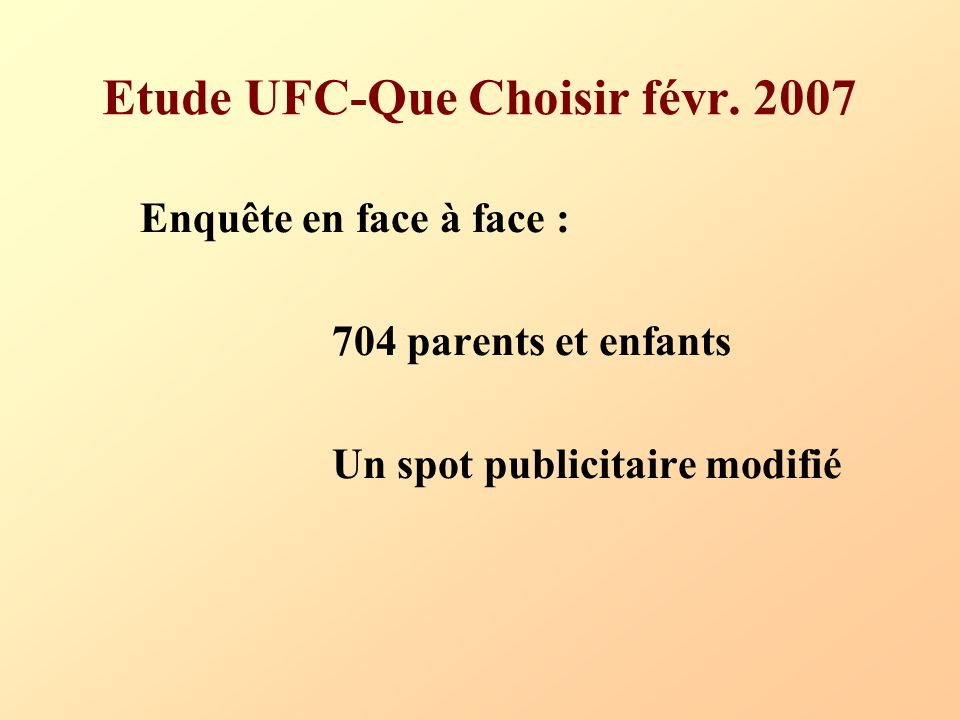 Etude UFC-Que Choisir févr. 2007