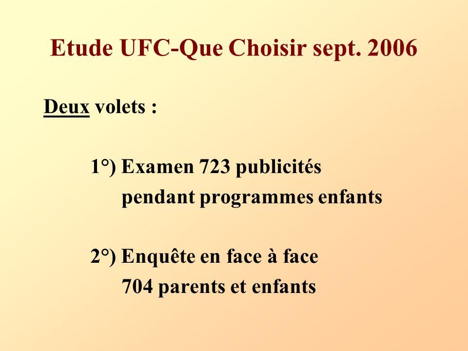 Etude UFC-Que Choisir sept. 2006