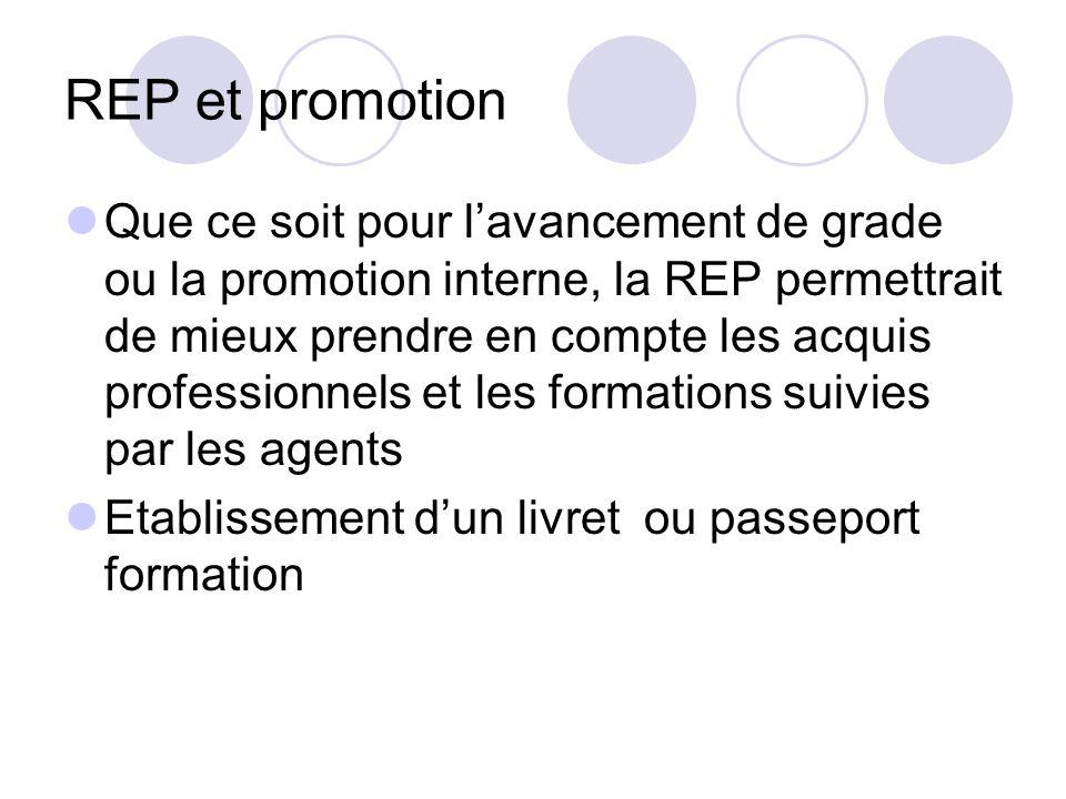 REP et promotion