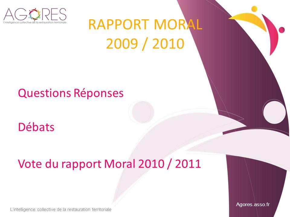 RAPPORT MORAL 2009 / 2010 Questions Réponses Débats