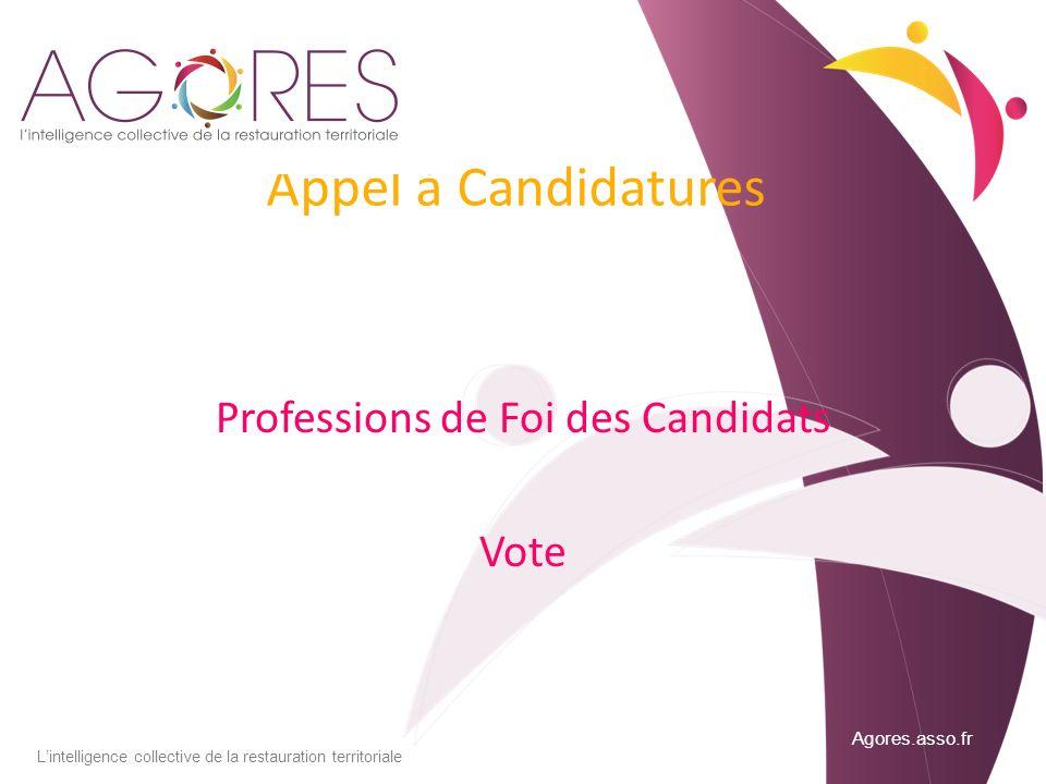 Professions de Foi des Candidats