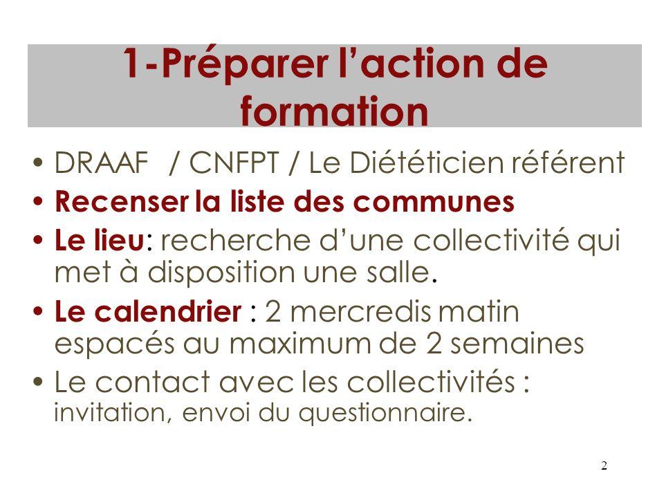 1-Préparer l'action de formation