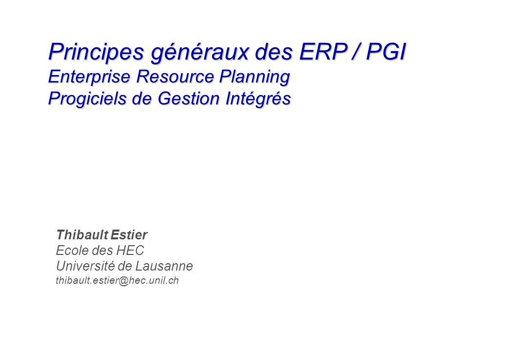 Principes généraux des ERP / PGI