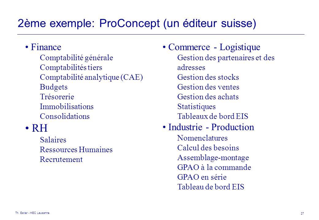 2ème exemple: ProConcept (un éditeur suisse)
