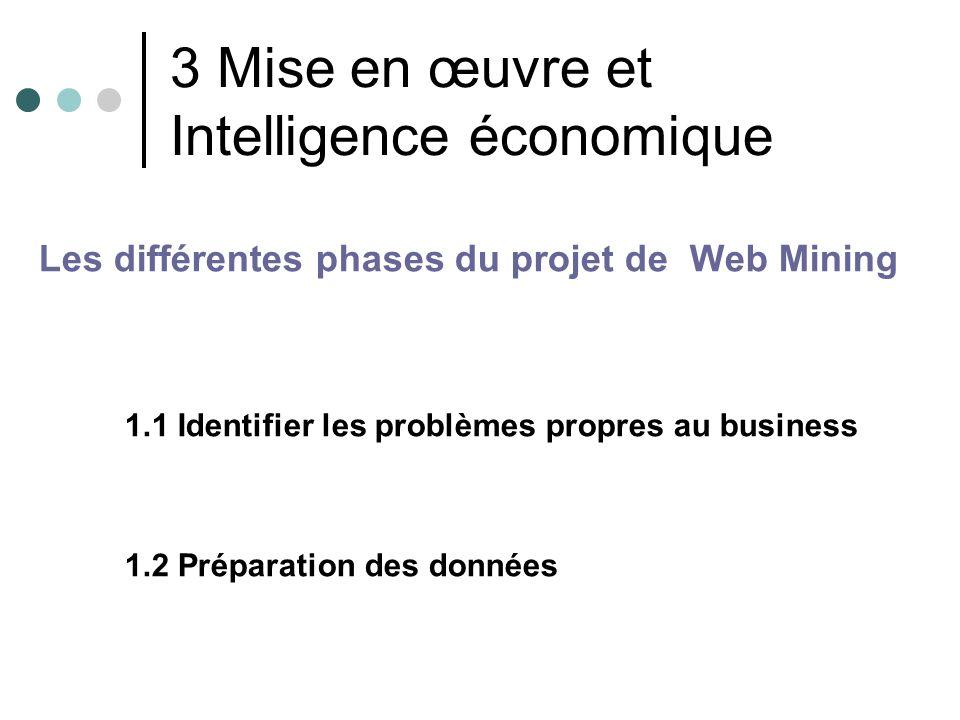 3 Mise en œuvre et Intelligence économique