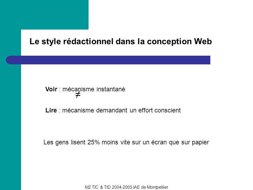 ≠ Le style rédactionnel dans la conception Web