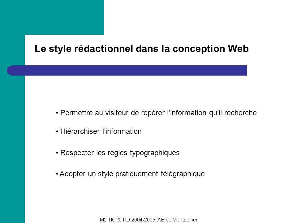 Le style rédactionnel dans la conception Web
