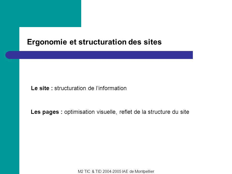 Ergonomie et structuration des sites