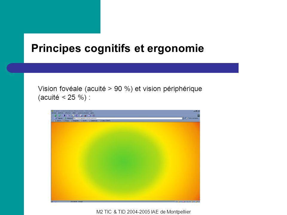 Principes cognitifs et ergonomie