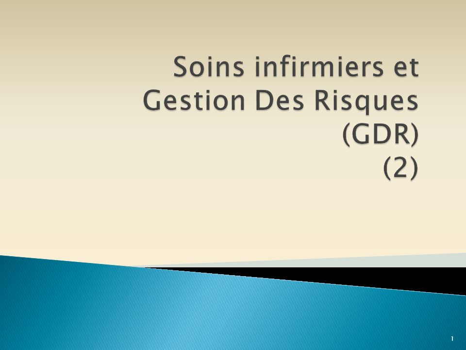Soins infirmiers et Gestion Des Risques (GDR) (2)