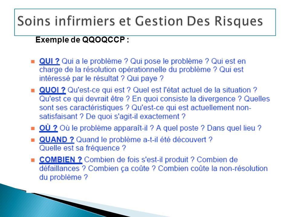 Exemple de QQOQCCP : Réalisation