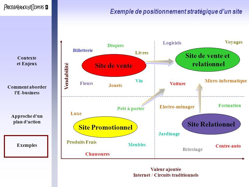 Exemple de positionnement stratégique d'un site