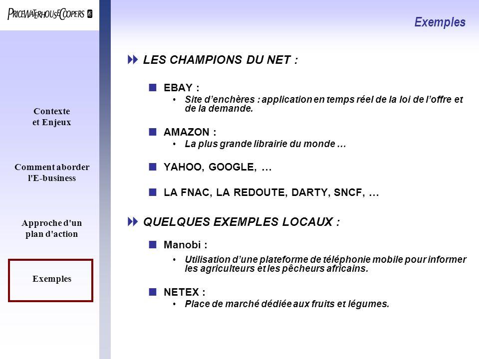 Exemples LES CHAMPIONS DU NET : QUELQUES EXEMPLES LOCAUX : EBAY :