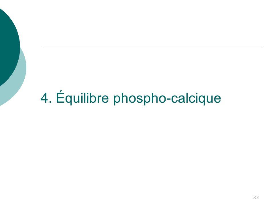 4. Équilibre phospho-calcique