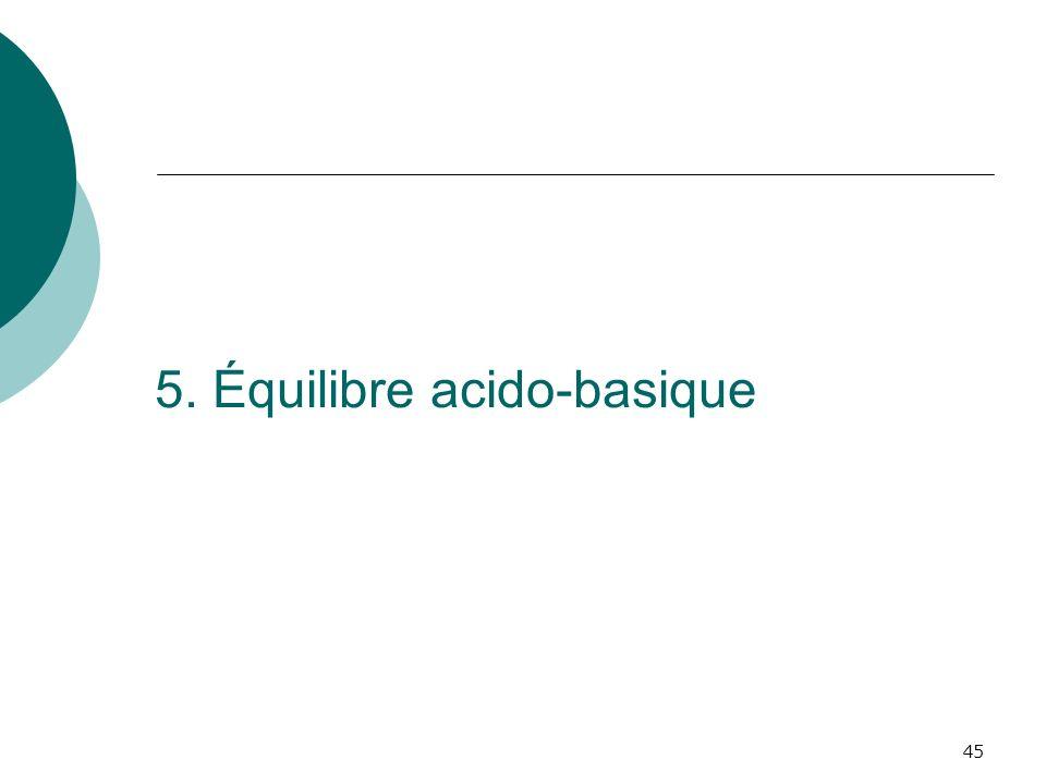 5. Équilibre acido-basique