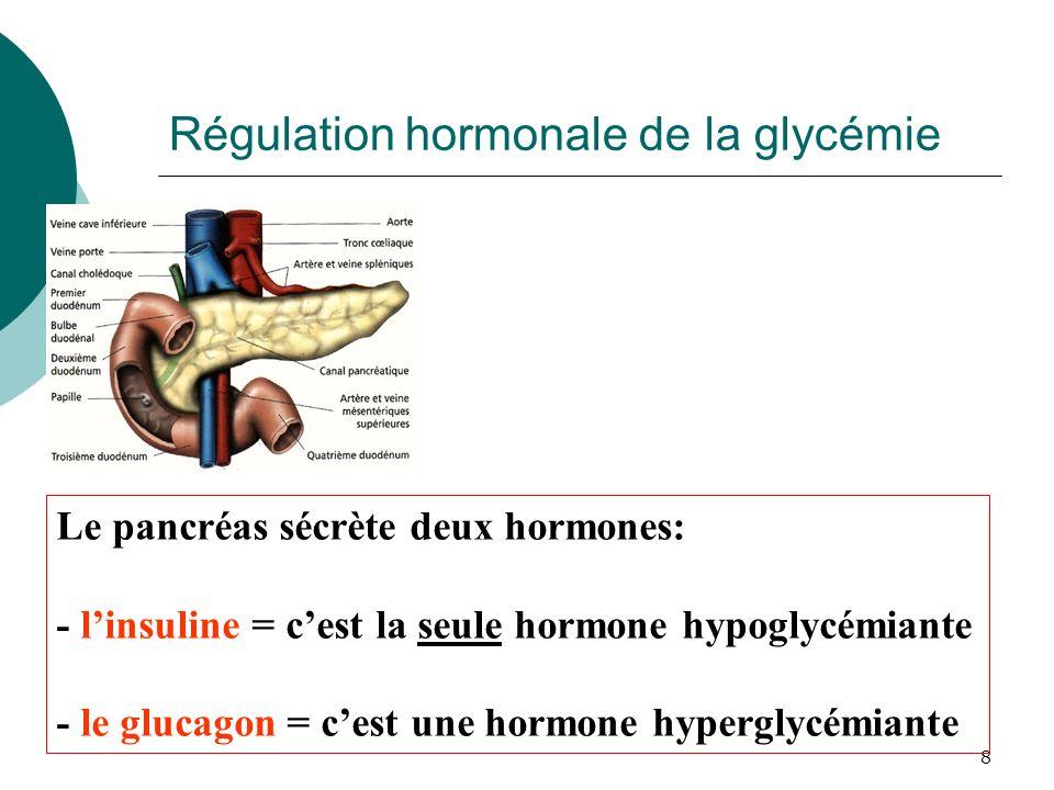 Régulation hormonale de la glycémie
