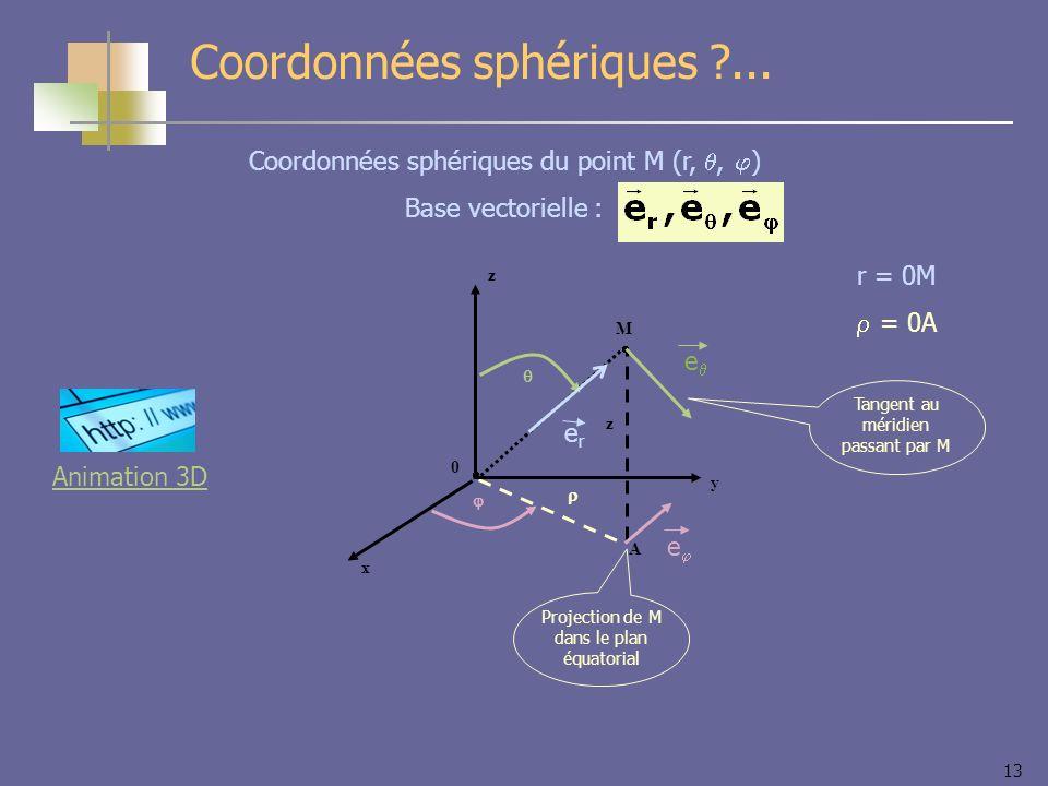 Coordonnées sphériques ...