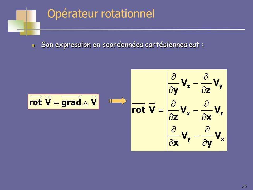 Opérateur rotationnel