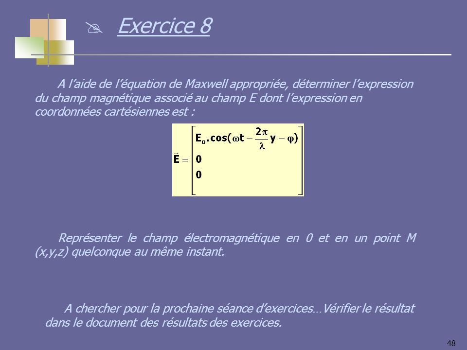 Exercice 8
