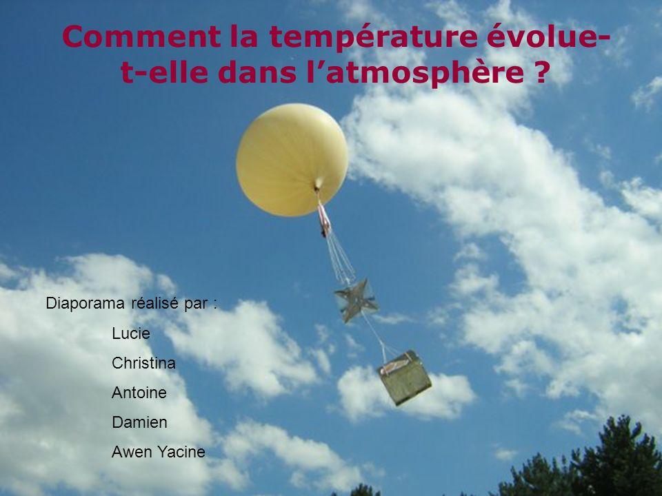 Comment la température évolue-t-elle dans l'atmosphère