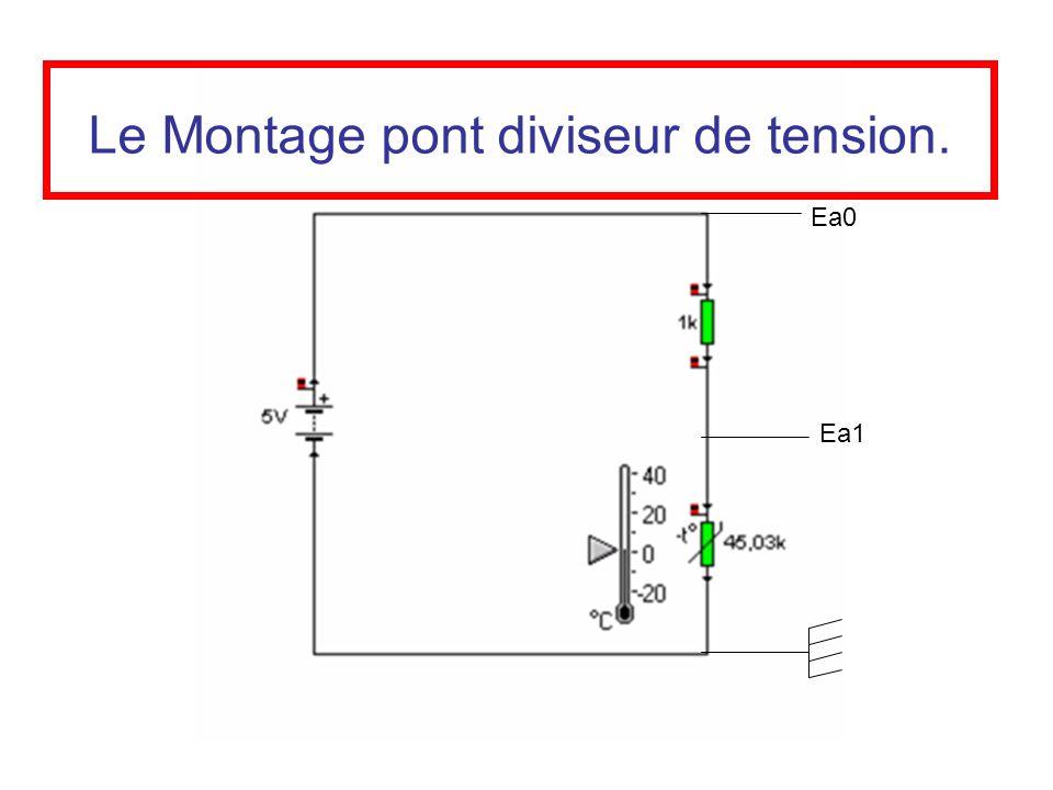 Le Montage pont diviseur de tension.