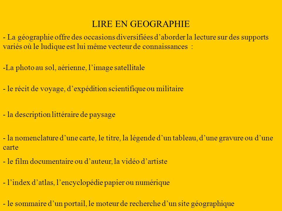 LIRE EN GEOGRAPHIE