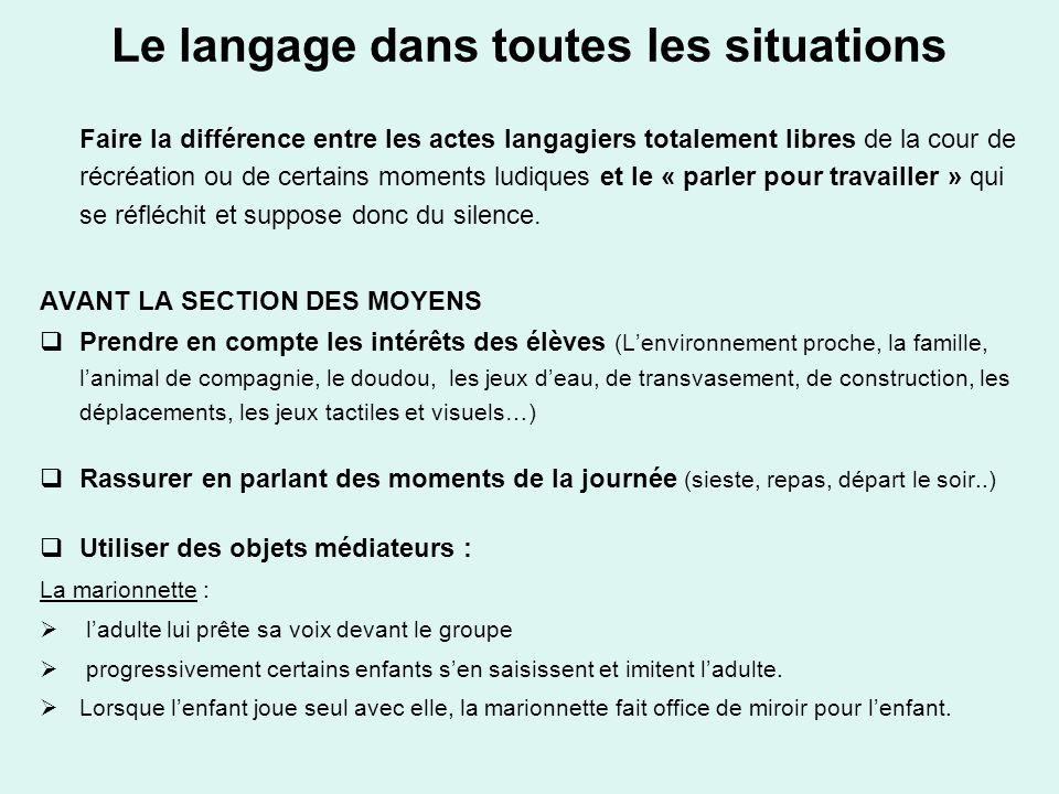 Le langage dans toutes les situations