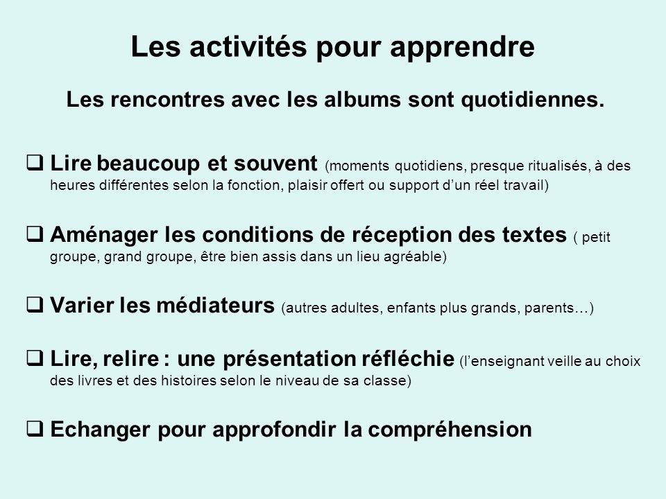 Les activités pour apprendre