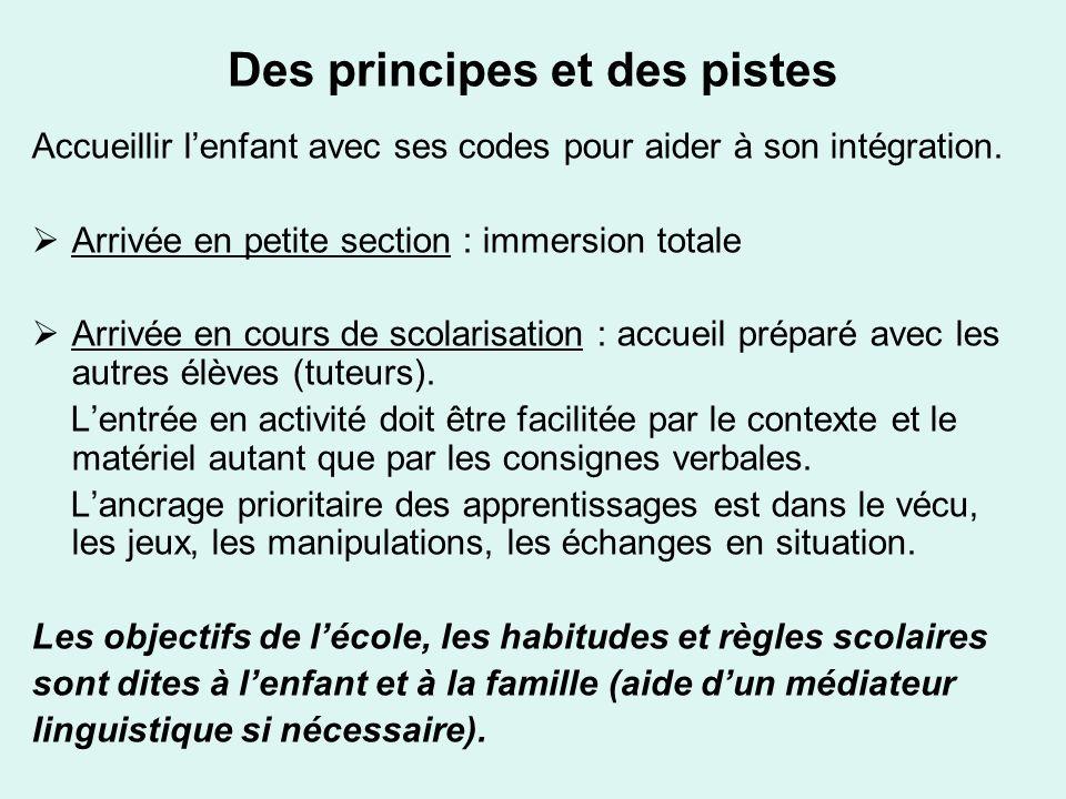 Des principes et des pistes