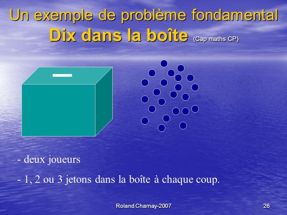 Un exemple de problème fondamental Dix dans la boîte (Cap maths CP)