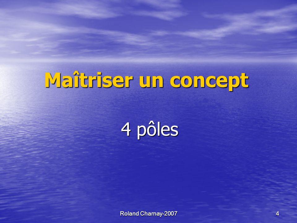 Maîtriser un concept 4 pôles Roland Charnay-2007