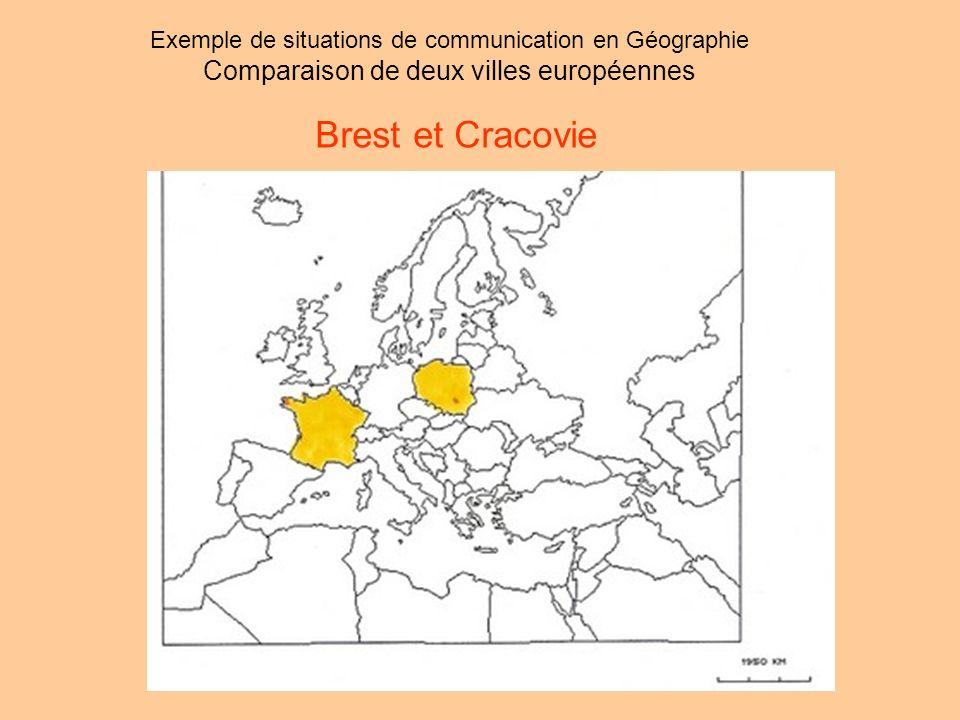Brest et Cracovie Comparaison de deux villes européennes