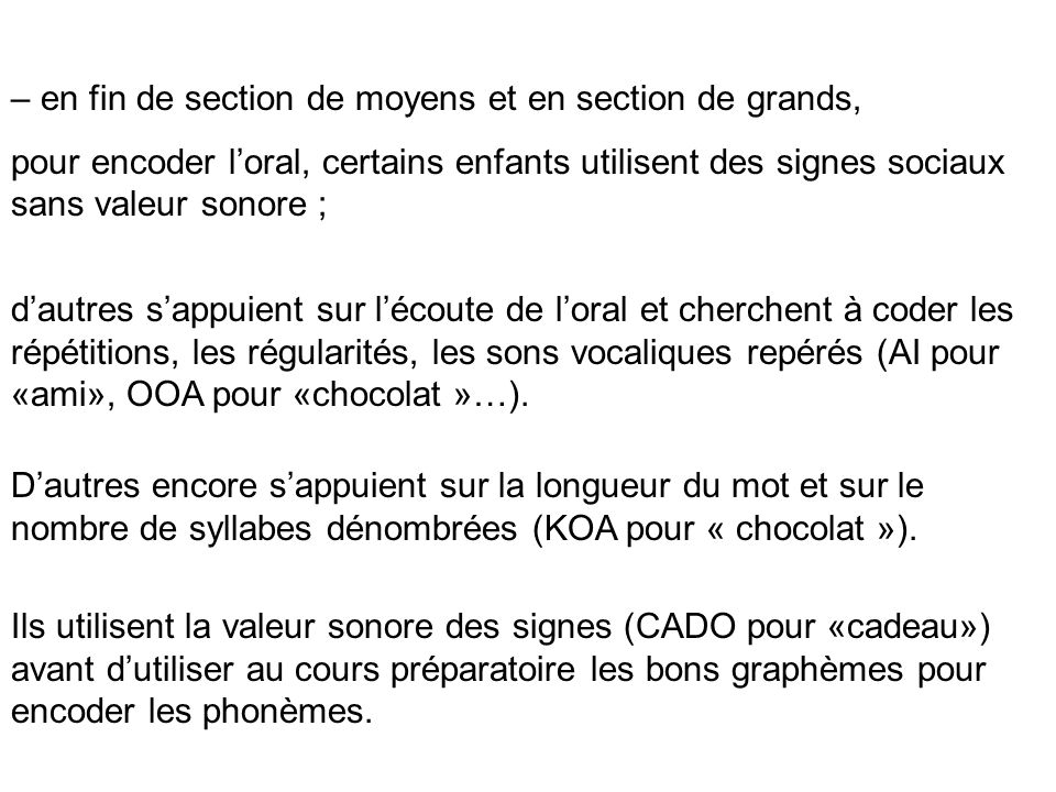 – en fin de section de moyens et en section de grands,
