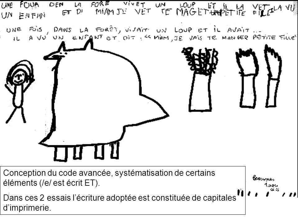 Conception du code avancée, systématisation de certains éléments (/e/ est écrit ET).