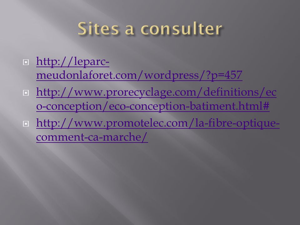 Sites a consulter http://leparc-meudonlaforet.com/wordpress/ p=457