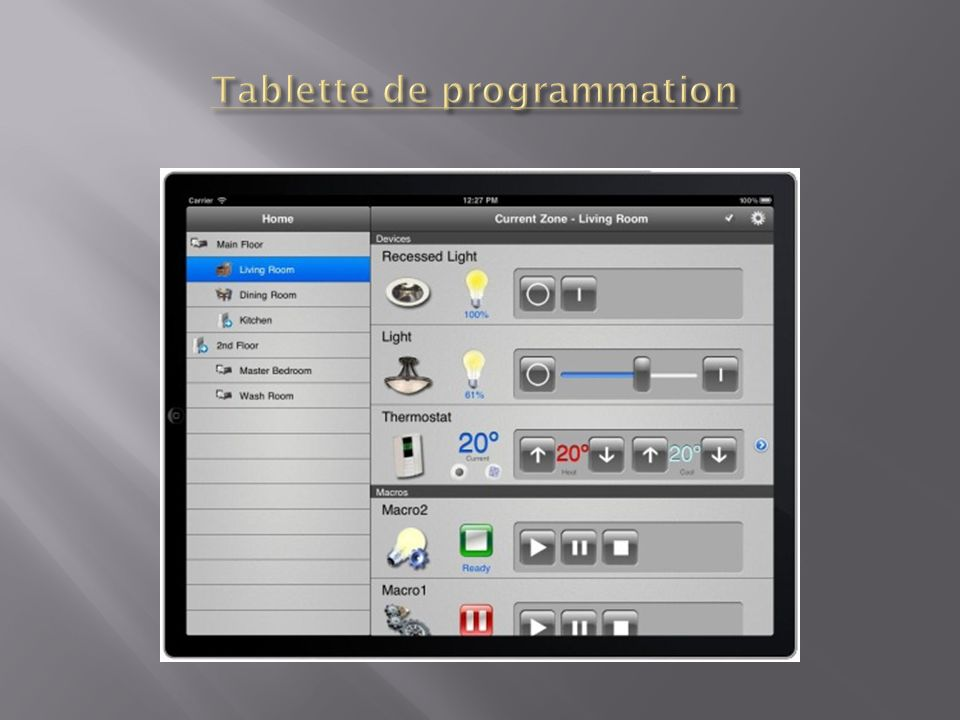 Tablette de programmation